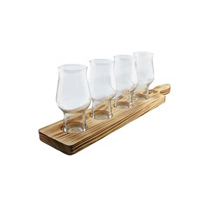 Rastal Beer Flight Set 4x0,195l + Tasting-Brett